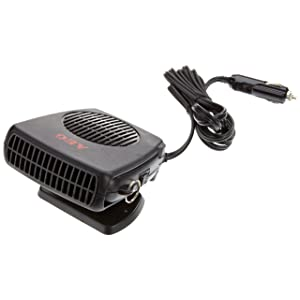 AEG 97201 Windshield de-icer with fan, warm / cold, 150 W, with 12 V car connector, stand, and handle
