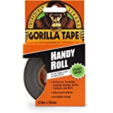 "Gorilla Tape, Mini Duct Tape To-Go, 1"" x 10 yd Travel Size, Black, (Pack of 1)"
