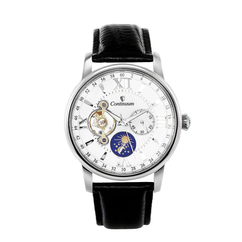 Continuum Herren-Armbanduhr Automatik Analog Leder Schwarz - C15H11