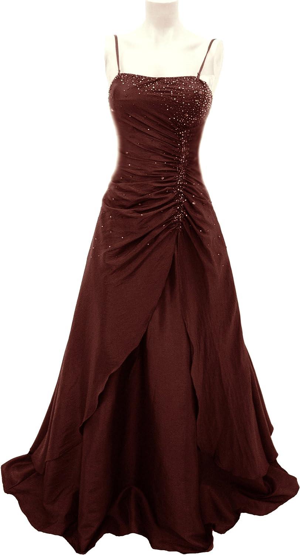Romantisches Abendkleid / Ballkleid bordeaux lang mit Stola #18