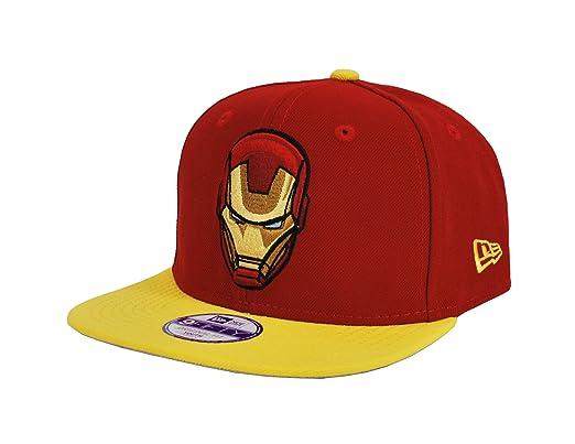 New Era 9Fifty Kids Cap Ironman Hero Quarter Sub Red Yellow Snapback ... e8dabb94f2b4