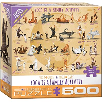 EuroGraphics (EURHR Yoga is A Family Activity 500Piece Puzzle 500Piece Jigsaw Puzzle: Toys & Games