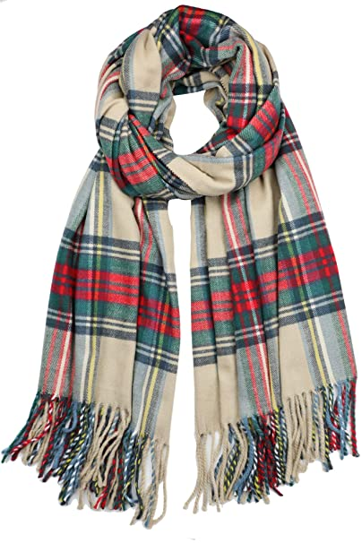 e7d7cd3b8 Achillea Long & Wide Scottish Tartan Plaid Large Cashmere Feel Blanket Scarf  Check Shawl Wrap 80""