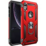 iPhone XR Case [ Military Grade ] 15ft. Drop Tested Protective Case | Kickstand | Compatible with Apple iPhone XR- Red