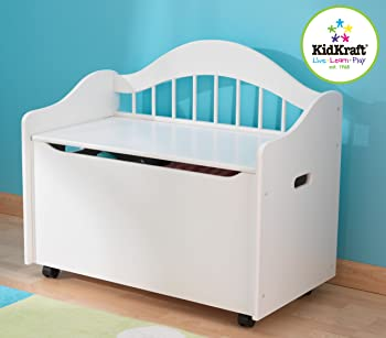 KidKraft Wooden Toy Chest (White)