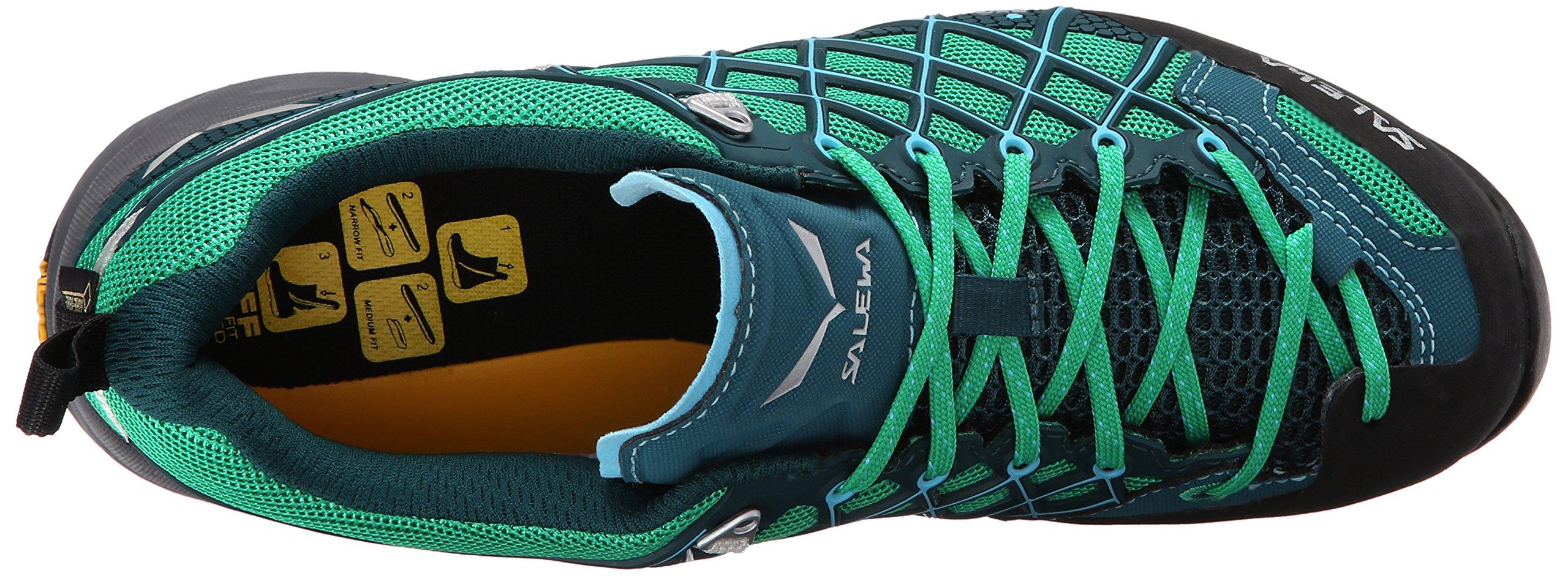 Salewa Women's Wildfire S GTX Technical Approach Shoe, Cypress/River Blue, 6.5 M US by Salewa (Image #7)