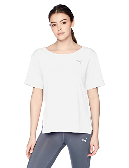 792c691ddc1 Puma Women's Transition Tee, Puma White, L: Amazon.ca: Clothing &  Accessories