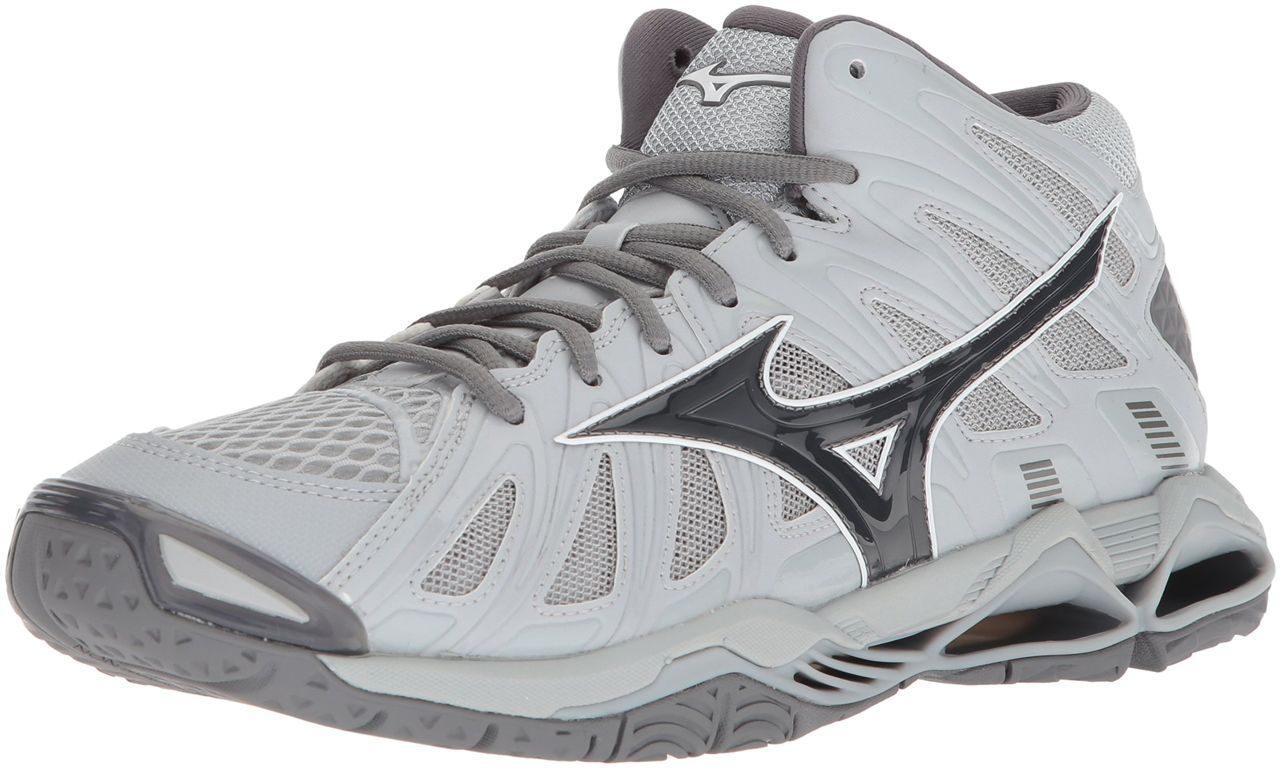 Mizuno Men's Wave Tornado X2 Mid Volleyball Shoe, Grey, Men's 12.5 D US