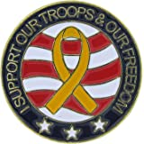 US Flag Store I Support Our Troops and Our Freedom Round Lapel Pin