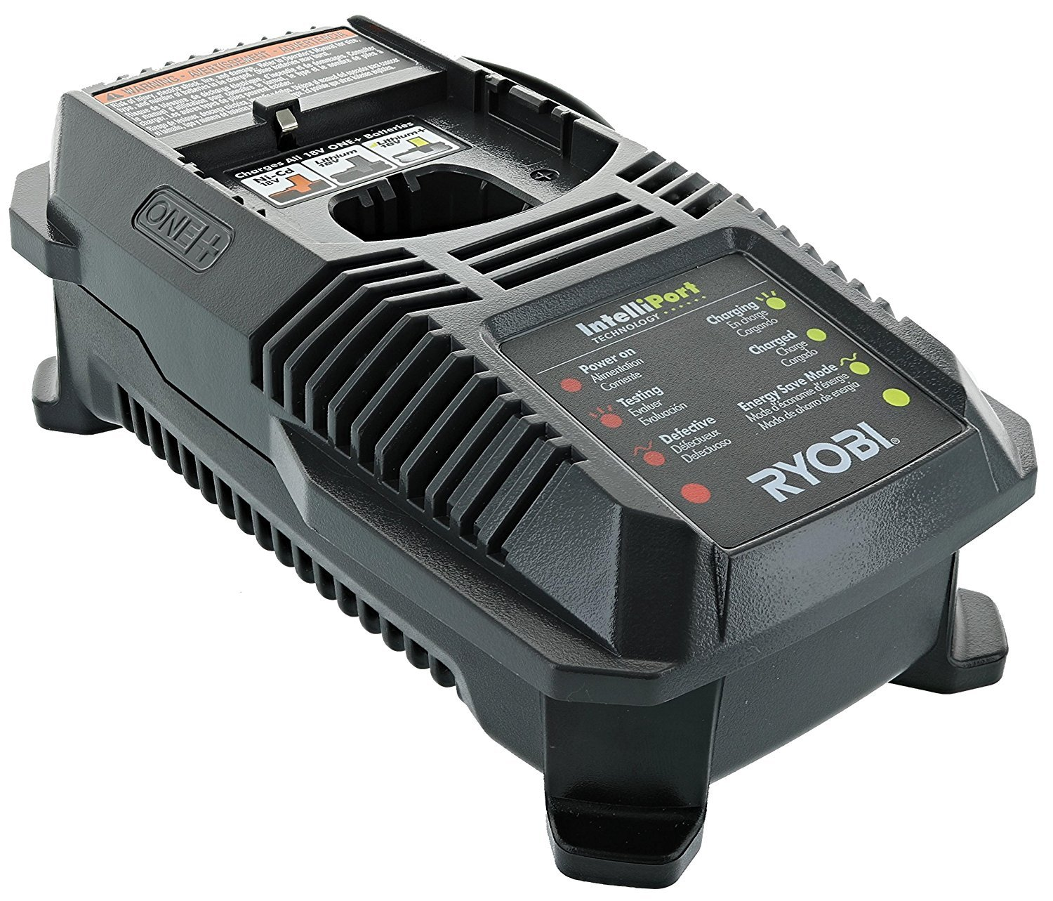 Ryobi P118 Lithium Ion  Dual Chemistry Battery Charger for One+ 18 Volt Batteries (Battery Not Included / Charger Only) by Ryobi