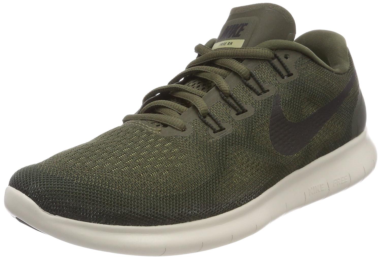 Nike Wmns Free RN 2017, Zapatillas de Entrenamiento para Mujer 41 EU|Verde (Cargo Khaki/Black-sequoia-neutral Olive 301)