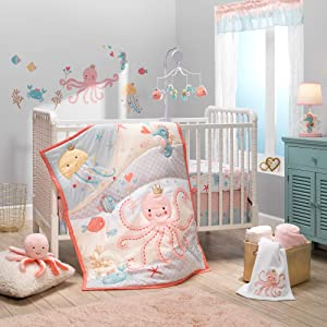 Bedtime Originals Ocean Mist 3Piece Crib Bedding Set, Multicolor