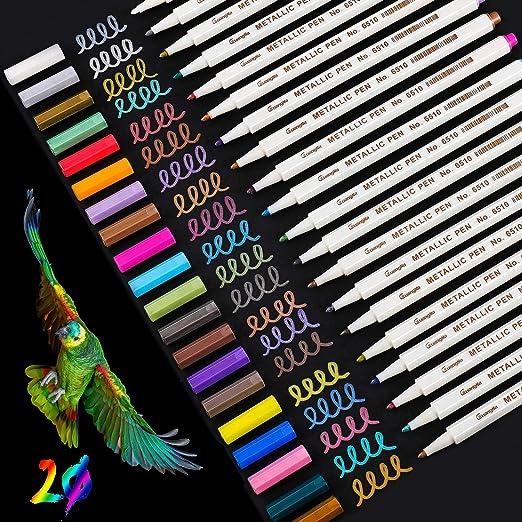 Metallic Marker Pens Set 20 Farben Premium Metallischen Stift Pens DIY Fotoalbum