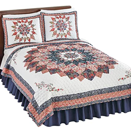 by Collections Etc Madalyn Patchwork Starburst Pillow Sham