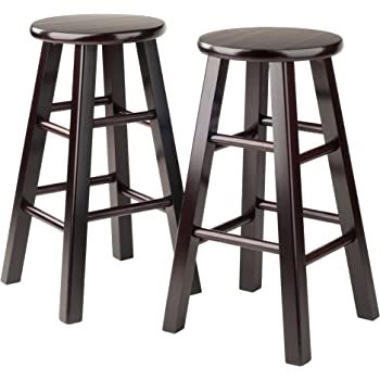 Amazon Com Winsome 29 Inch Square Leg Bar Stool Black