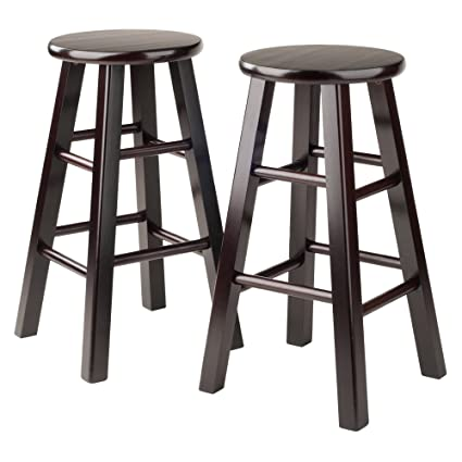 Amazon.com: Winsome Counter Stool with Square Legs, 24-Inch ...