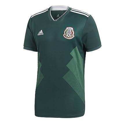 55cce0d66 adidas 2018 FIFA World Cup Men's Mexico Home Replica Jersey, Collegiate  Green/White,