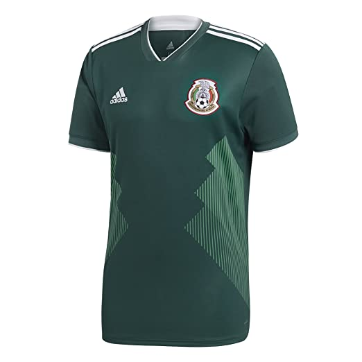 67b0ab346d412 adidas Men s 2018 Mexico Home Replica Jersey Collegiate Green White Small