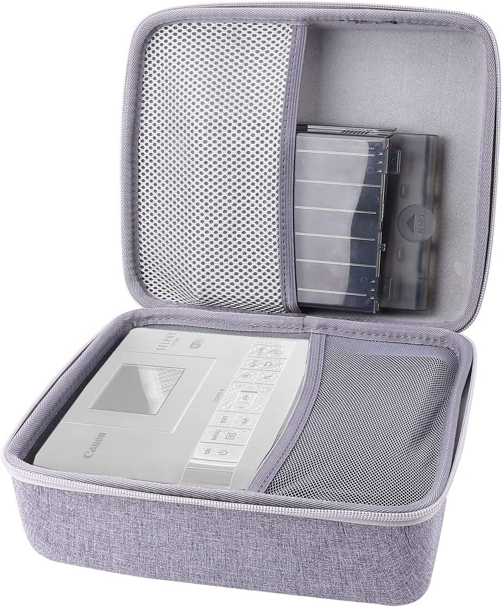Grey CP1300 Wireless Color Photo Printer Aenllosi Hard Carrying Case for Canon Selphy CP1200