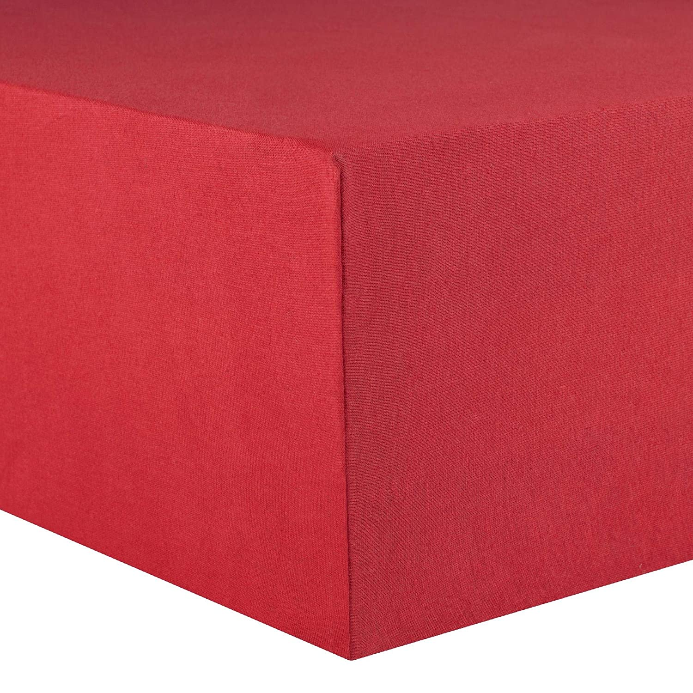 Celinatex sábana Bajera Ajustable, algodón, Rubin Rot, 60 x 120 cm - 70 x 140 cm