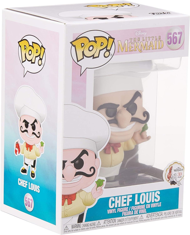 Funko 40104 POP Vinyl Mehrfarben Little Mermaid-Chef Louis Sammelbares Spielzeug Einheitsgr/ö/ße Disney