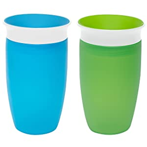 Munchkin Miracle 360 Sippy Cup, Green/Blue, 2 Count
