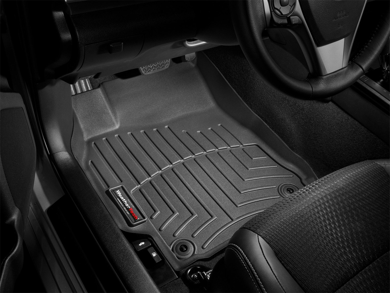 Black 443281 WeatherTech Custom Fit Front FloorLiner for Dodge Ram 1500 Crew Cab