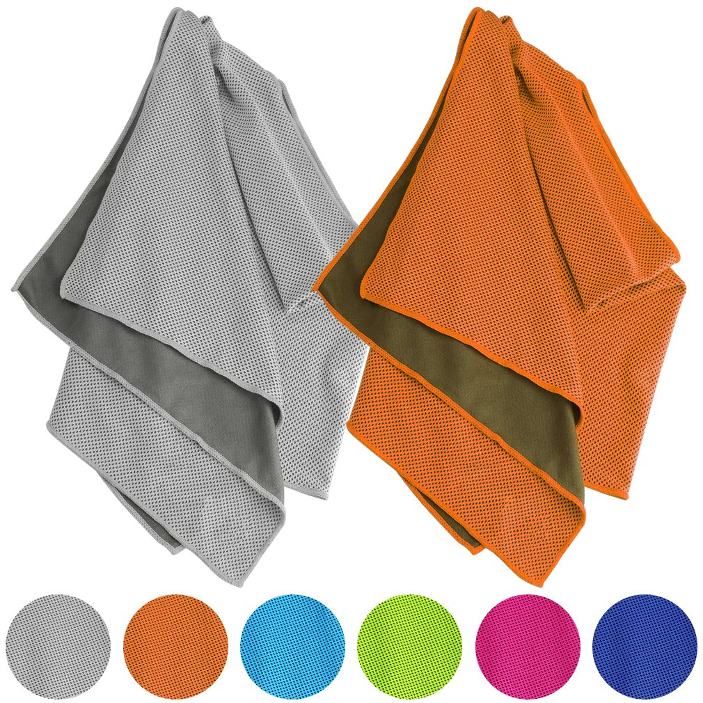 Vancle Cooling Towels, Cooling Towel for Instant Cooling Relief in Hot Environment, Ice Towels Stay Cool for Sports and Fitness