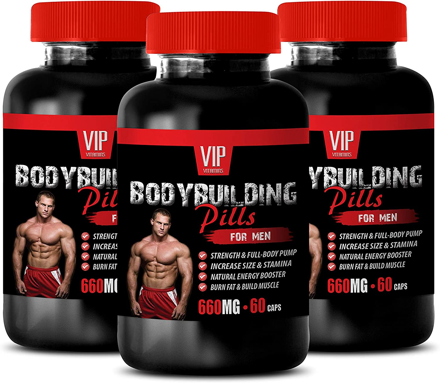 Bodybuilding Supplements for Muscle Growth - Bodybuilding Pills for Men - Alpha lipoic Acid Dietary Supplement Capsules - 3 Bottles 180 Capsules