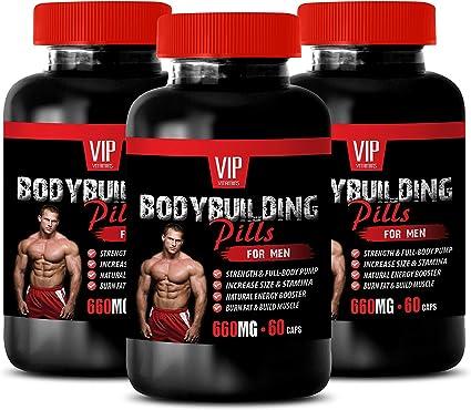 Amazon Com Energy Workout Supplements Bodybuilding Pills For Men Zinc Vitamin Supplement 3 Bottles 180 Capsules Health Personal Care