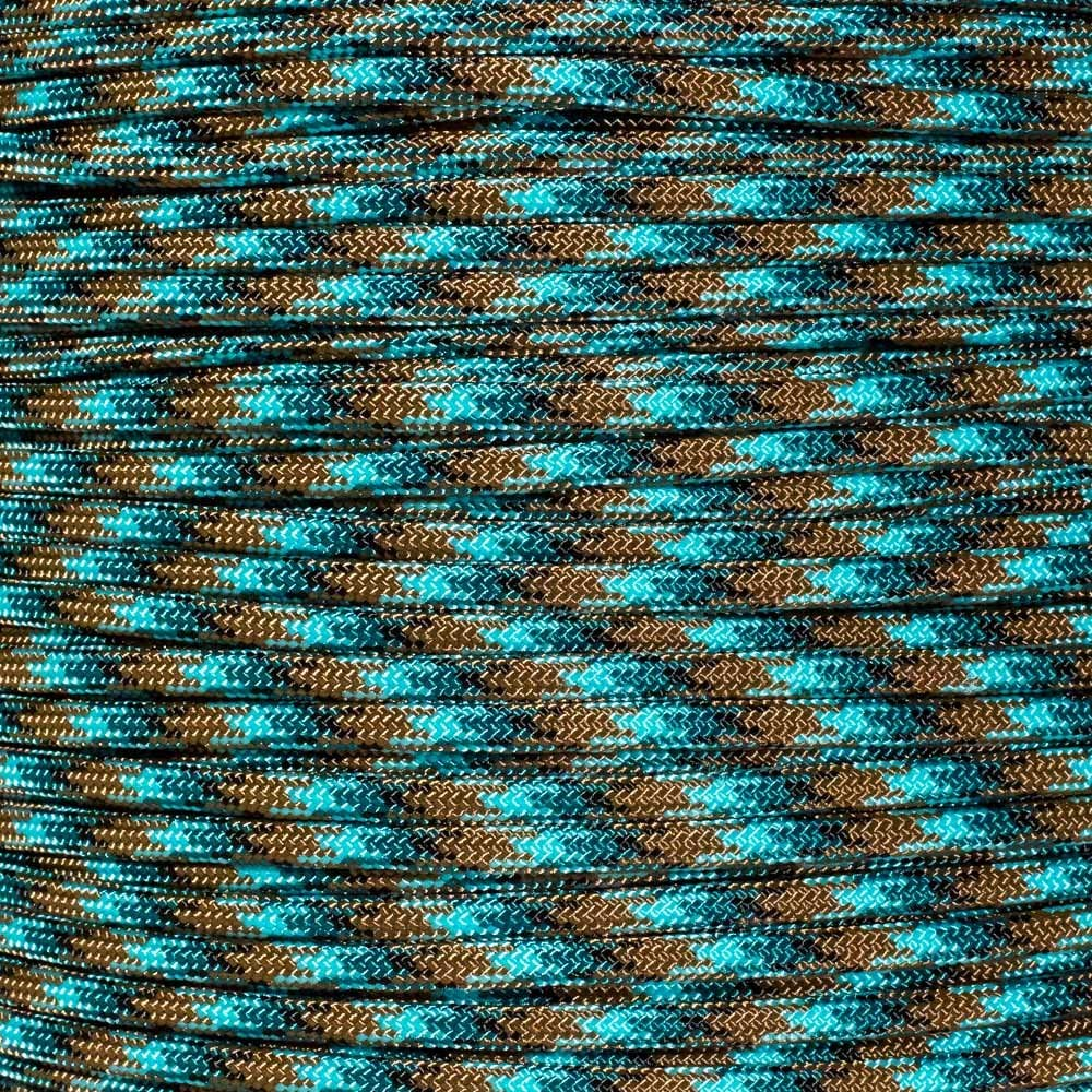PARACORD PLANET 10 20 25 50 100 Foot Hanks and 250 1000 Foot Spools of Parachute 550 Cord Type III 7 Strand Paracord (Under Sea 100 Feet)