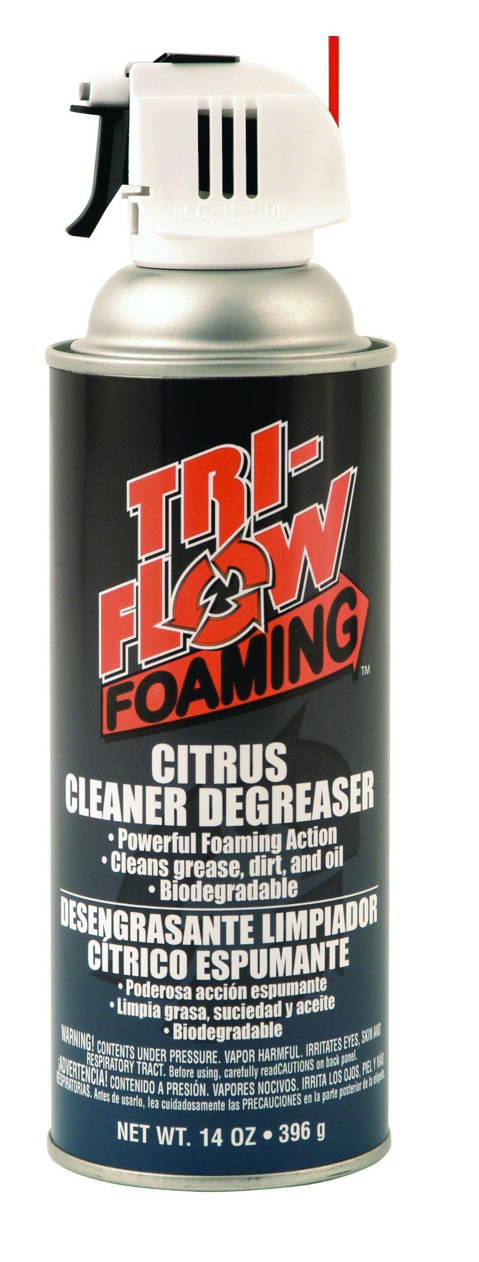 Tri-Flow TFF230000 Foaming Citrus Cleaner/Degreaser - 14 oz. Aerosol