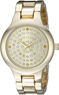 Geneva Womens FMDJM105A Analog Display Japanese Quartz Gold Watch