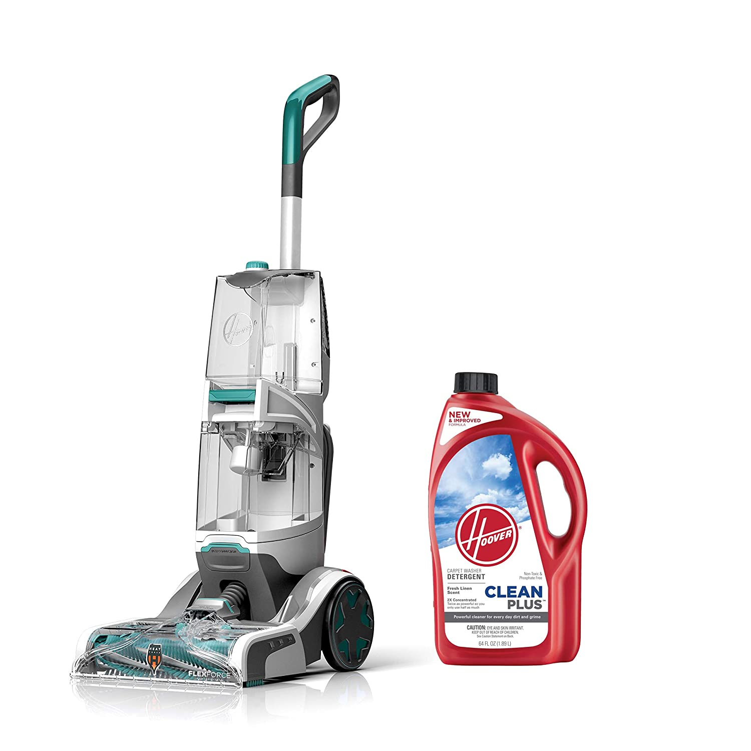 Hoover SmartWash Carpet Washer with CLEANPLUS 2X 64oz Carpet Cleaner and Deodorizer