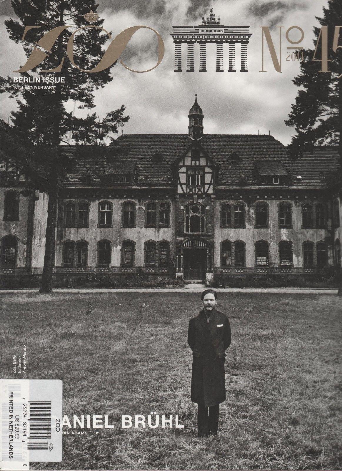 ZOO MAGAZINE #45 2014, BERLIN ISSUE 10th ANNIVERSARY, DANIEL BRUHL, FASHION.