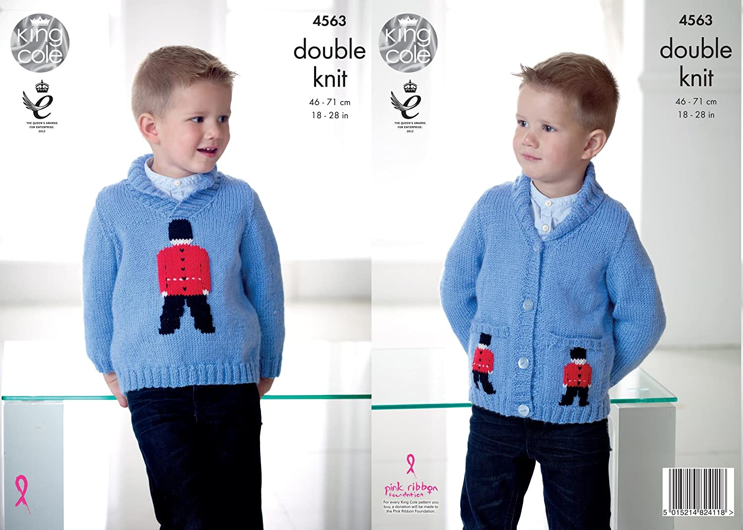 King Cole 4580 Knitting Pattern Cardigan Waistcoat in Big Value Baby Soft Chunky