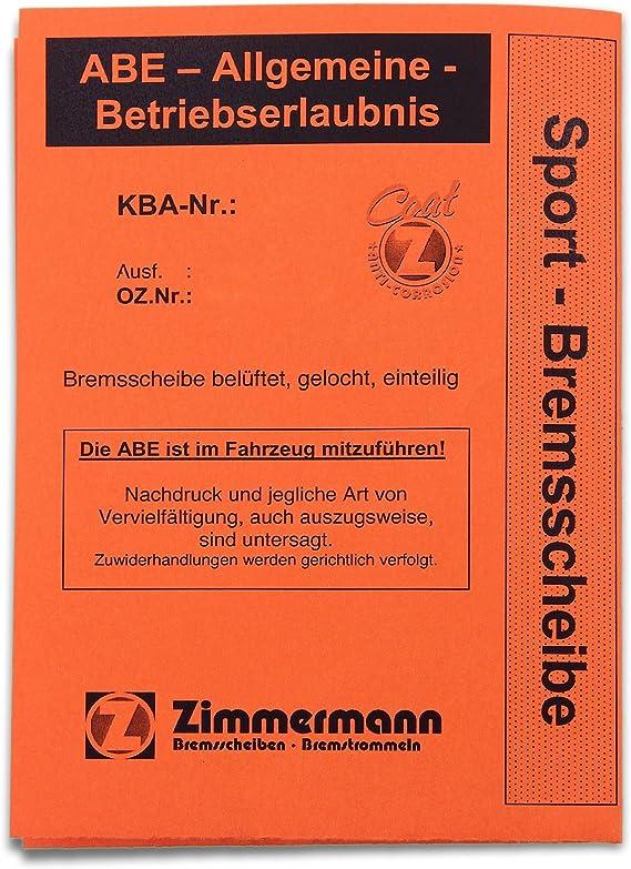 ZIMMERMANN Bremsbel/äge vorne Bremsenkit Komplettset ZIMMERMANN Bremsscheiben /Øbel/üftet 347mm