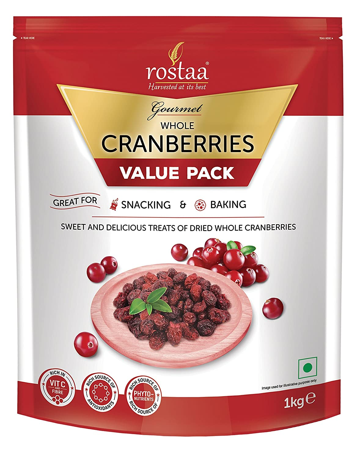 Rostaa Value Pack, Cranberry Whole, 1000G