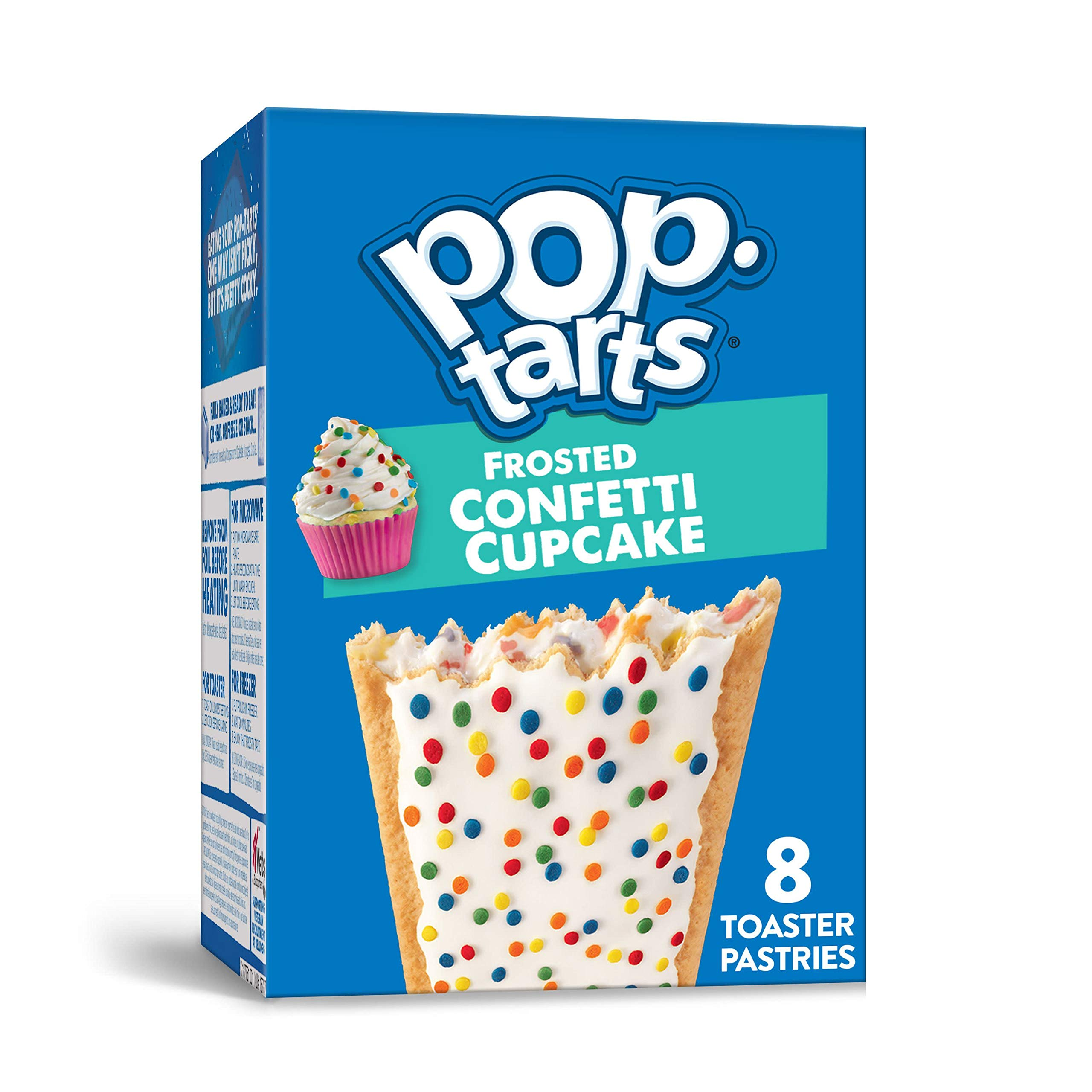 Pop-Tarts, Breakfast Toaster Pastries, Frosted Confetti Cupcake, Proudly Baked in the USA, 13.5oz Box (4 Count)
