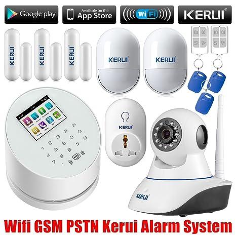 KERUI W2 WiFi TFT GSM/RTC teclado Carlos sistema de alarma inalámbrica Android IOS APP