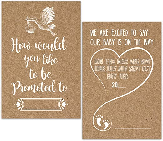 How/'s about you get a Promotion to Grandparents? Pregnancy Announcement card