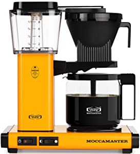Technivorm Moccamaster 59608 KBG Coffee Brewer, 40 oz, Yellow Pepper