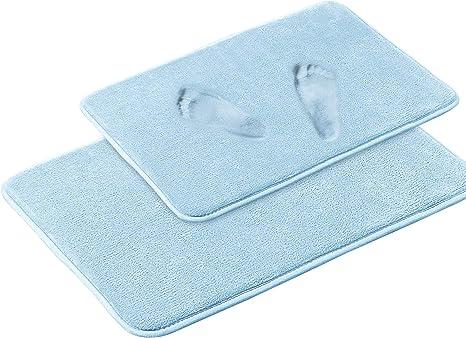 Luxurious Absorbent Soft Memory Foam Bath Mat Bathroom Shower Rug Non Slip WT