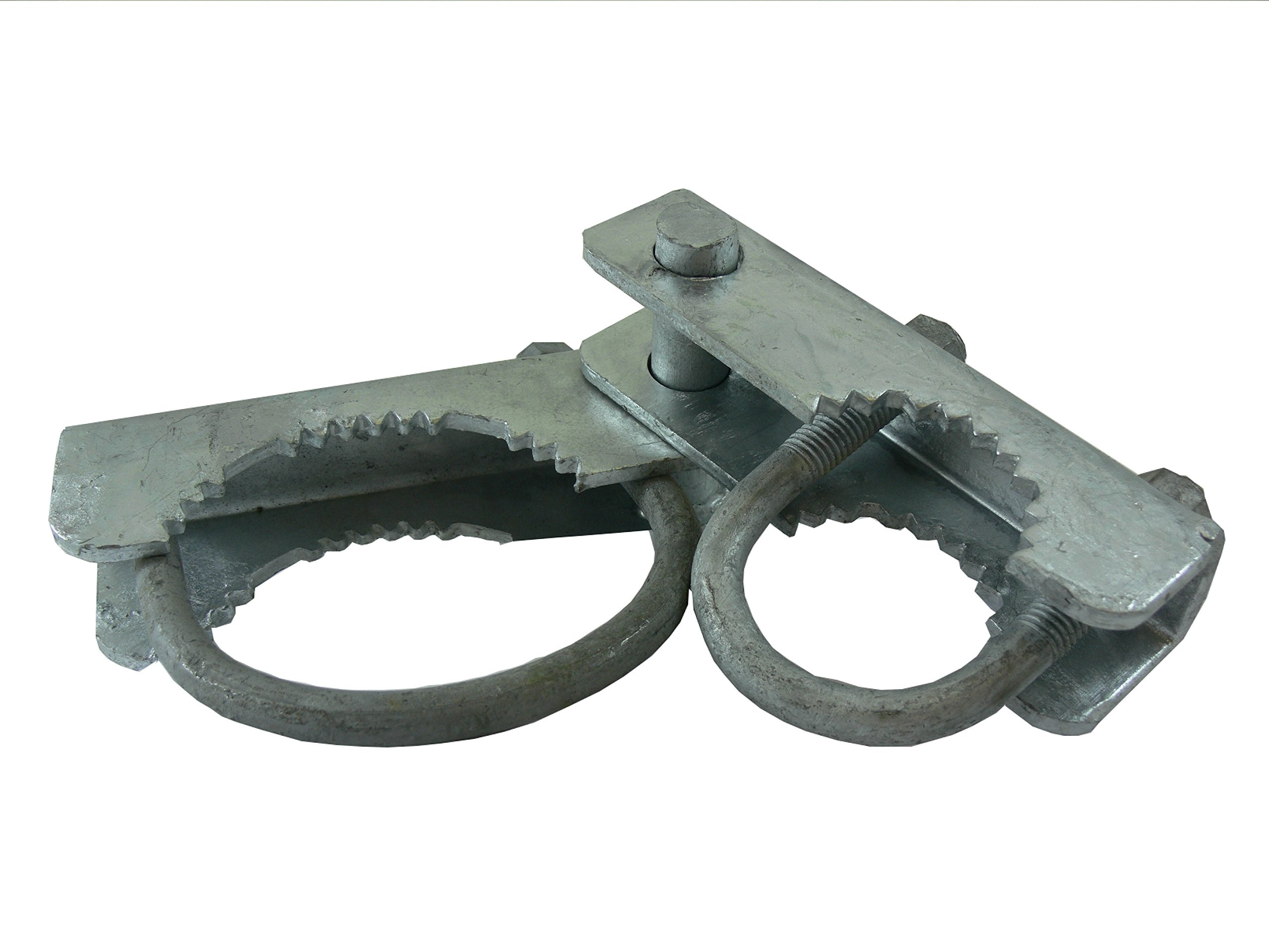 Chain Link Fence 180 Degree Commercial Duty Gate Hinge - for 6-5/8'' Outside Diameter Gate Post/Pipe & 1-5/8 Thru 1-7/8'' Gate Frames - Galvanized Chain Link Post Gate Hinge - Hinge''U'' Bolts Included