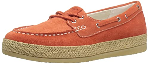 Geox W Maedrys 5 Boat Shoe Dark Orange 40 M EU   10 B(M) US  Buy Online at  Low Prices in India - Amazon.in 24a76e65e14