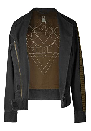 6e47882c8995a Musterbrand Star Wars Jacke Damen Jyn Rogue One Grau  Amazon.de ...