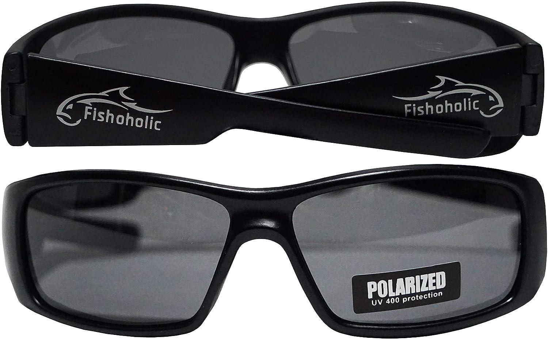 384d95c1390b Amazon.com   Fishoholic Polarized Fishing Sunglasses   Free Lens Cleaning  Case. 100% UV Protection. Great Gift for Fresh Lake River Fish   Saltwater  Ocean ...