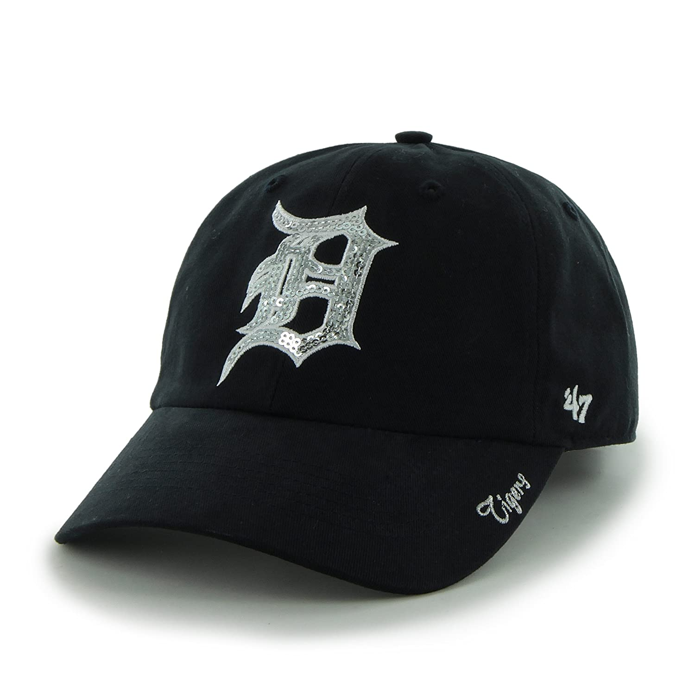 online store c04df 5765e Amazon.com   MLB Detroit Tigers Women s Sparkle Team Color Cap, One-Size,  Navy   Sports Fan Baseball Caps   Clothing