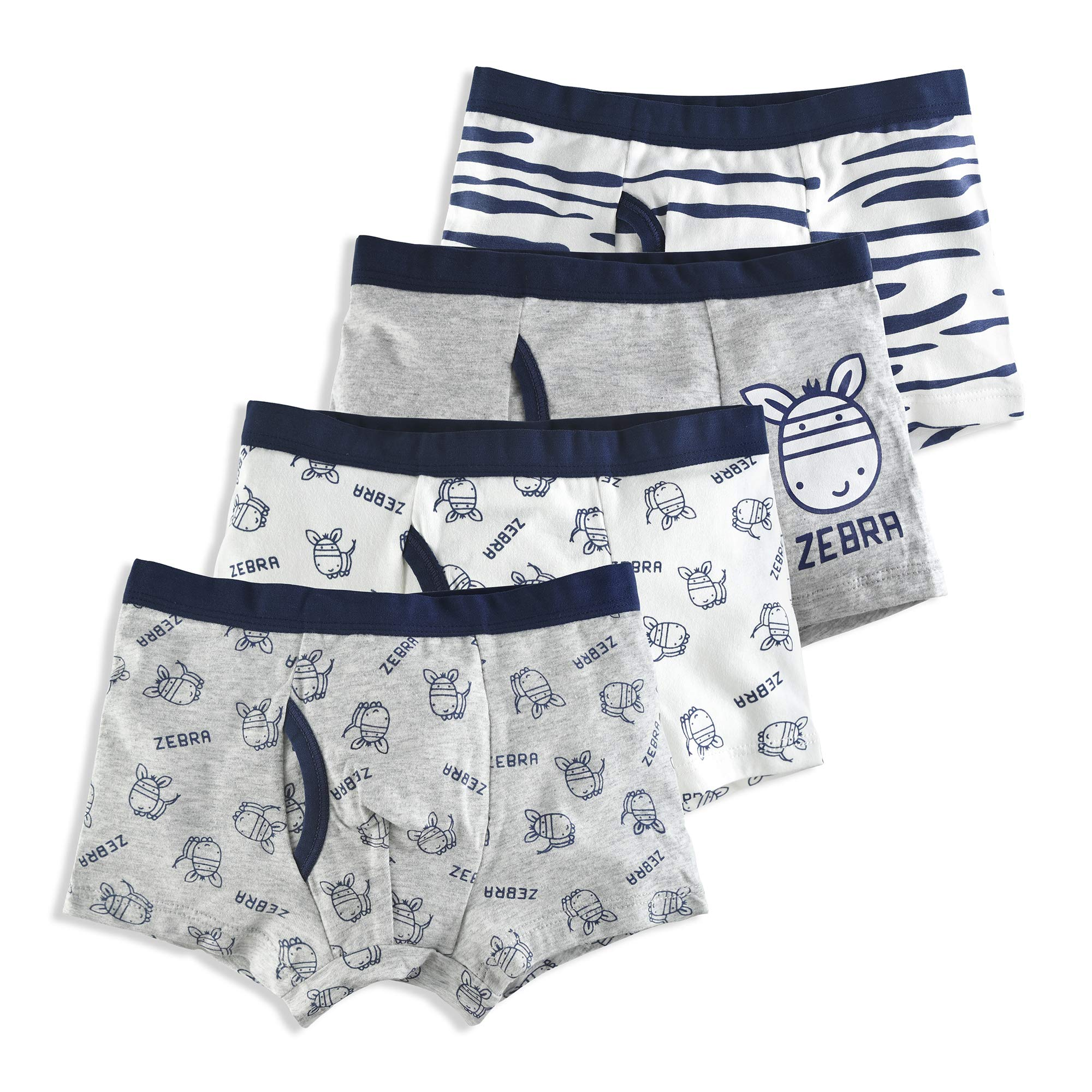 slaixiu Soft Cotton Kids Underwear Cartoon Boys Boxer Briefs 4-Pack (UW75-No.9-110)
