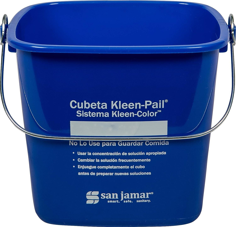Cleaning Pail,6 qt.,Plastic SAN JAMAR KP196KCBLGR